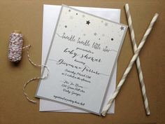Twinkle Twinkle Little Star Baby Shower Invitation by TheFindSac