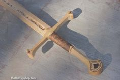 Anduril LOTRInspired Wooden Sword of Aragorn by FunnyFarmToyBarn, $98.00