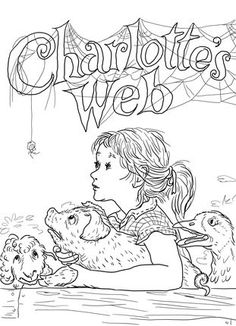 click to see printable version of charlottes web coloring page - Language Arts Coloring Pages