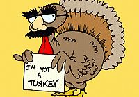 """Disguise the Turkey, Thanksgiving singing time idea. I used a variation on this last year, I got a laminated turkey and made different """"outfits"""" to put on him. I had a camo shirt, high heels, sunglasses, hula skirt, etc. The crazier the better! When the kids sang well they got to add something to the """"disguise."""" We had a lot of fun with that one!"""