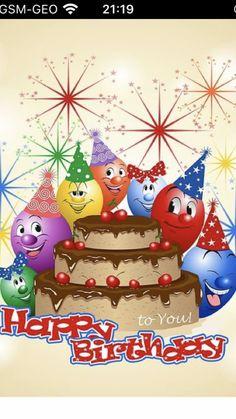 Happy Birthday Wishes Photos, Birthday Wishes Messages, Happy Birthday Greetings, Birthday Quotes, Birthday Cards, Happy Birthday Illustration, Birthdays, Christmas Ornaments, Bulgarian