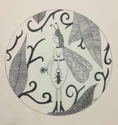 A personal favourite from my Etsy shop https://www.etsy.com/au/listing/480763334/ant-fairy-wall-art-print-of-original-ink