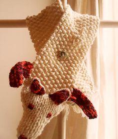 Crafty Baba | Knit a Faux Fox Scarf