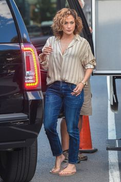 Jennifer Lopez  heads to the set of 'Shades of Blue'