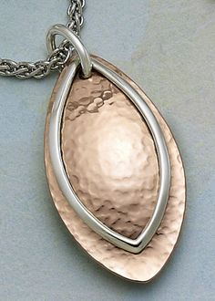 Hammered Copper and Silver Pendant from James Avery Jewelry #jamesavery