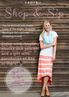 Soybu Shop and Sip…join me!