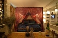 Play a single apartment Eastern Mediterranean style bedroom decoration effect chart greatly entire 2012 picture Single Apartment, Mediterranean Decor, Valance Curtains, Romantic Beds, Bedroom Decor, Cozy, Chart, Decoration, Home Decor