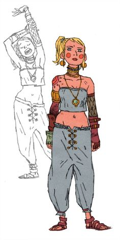 Marle from Chrono Trigger. I think you can buy most of Marle's outfit at American Apparel. She and Lucca are terminally hip. I may draw Lucca next. I've already got her boots picked out, and they are rad.