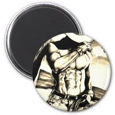 Fine art drawing handsome Cowboy Body Builder Magnet - valentines day gifts love couple diy personalize for her for him girlfriend boyfriend