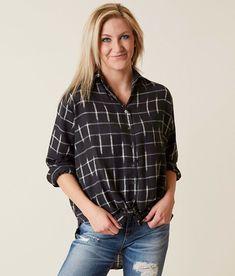 Billabong Cozy Nights Shirt - Women's Shirts/Blouses in Off Black   Buckle
