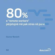 """""""Remote work"""" apo puna nga shtëpia, është në rritje e sipër.  Me #duaBiz ju mund ta gjeni mundësinë e ardhshme, prej kudo!  Mëso më shumë për aplikacionin linku në bio @dua_com"""