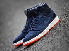 quality design 42067 c0fac Air Jordan 1 Mid – Navy – Orange Jordan 1 Mid, Popular Sneakers, Nike
