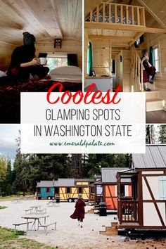 Find the best glamping in Washington state, according to a local. From unique cabins in Washington to treehouses, yurts, teepees, traillers, RV resorts, and safari tents, here are the most unique stays in Washington. Lopez Island, Tiny House Village, Vashon Island, Go Glamping, The Perfect Getaway, Yurts, Forest House, Treehouses, Cozy Cabin