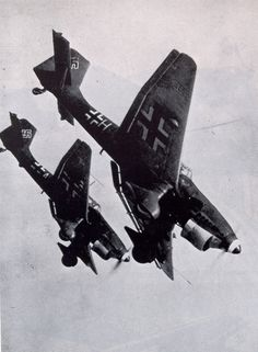 Luftwaffe Junkers Ju-87 Stuka dive bomber. The scream of their sirens would put fear in any unsuspecting person within earshot.