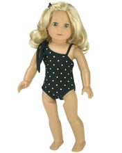 67a10eaae5d0f Black & White Polka Dot One-Piece Bathing Suit Fits 18