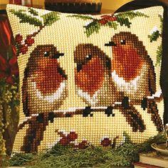 Winter Robins Cross Stitch Tapestry 913V