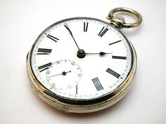 c1864 ANTIQUE SOLID SILVER OPEN FACE FUSEE POCKET WATCH, R WRIGHT & CO, COVENTRY
