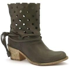 BOTTINES COCO ABRICOT x2372 de couleur GRIS, en cuir. Chaussures avec un  talon de 76572c984165