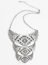 Silver Vintage Multilayer Collar Necklace $9.80