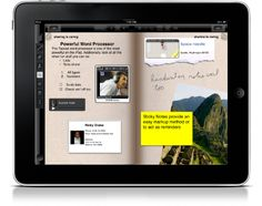 Not yet available - but I hope coming soon. This is what the MS Courier promised- now on the iPad soon...