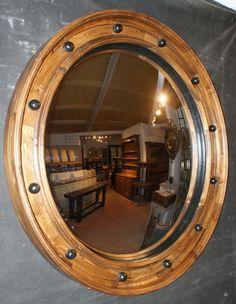 Huge Convex Mirror - Antique MIRRORS