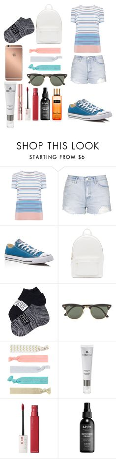 """""""Summer style"""" by bethanymotaislife-1 ❤ liked on Polyvore featuring Topshop, Converse, PB 0110, Mura, Ray-Ban, Accessorize, Borghese, L'Oréal Paris, Maybelline and Victoria's Secret"""