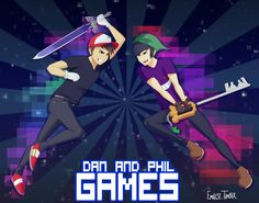 Awesome Dan and Phil Games fan art