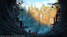 Tunnel Canyon - Sonic Boom: Rise of Lyric concept art