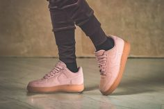 Nike Air Force 1 '07 SE Pink / Gum Brown Credit : Afew