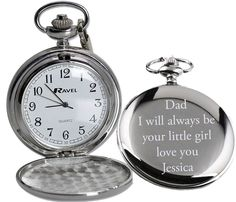 Personalised Engraved Pocket Watch (FATHER OF THE BRIDE) £10  DAD, I always be your little girl, love you Sharnie