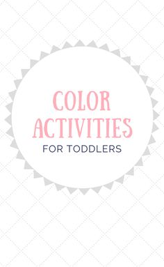 Color Activities For Toddlers, Counting For Toddlers, Number Activities, Toddler Activities, Sorting Colors, Toddler Play, Outdoor Play, Shapes, Learning