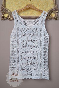 Fabulous Crochet a Little Black Crochet Dress Ideas. Georgeous Crochet a Little Black Crochet Dress Ideas. Pull Crochet, Gilet Crochet, Stitch Crochet, Crochet Tank, Crochet Blouse, Crochet Stitches, Knit Crochet, Crochet Style, Crochet Bodycon Dresses