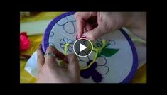 Hand Embroidery stitches Tutorial - Tiny design for frocks, blouses, cushion covers etc Crochet Flower Tutorial, Crochet Flowers, Crochet Girls, Crochet Top, How To Tie Shoes, Embroidery Stitches Tutorial, Magic Circle, Elsa, Victoria