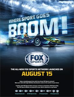 """FOX Sports Network """"Where Sports Goes Boom!""""Ad Campaign on Behance Sports Graphic Design, Graphic Design Posters, Graph Design, Ad Design, Sports Advertising, Advertising Design, Branding, Web Banner Design, Web Banners"""