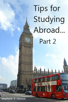 elephants & chevron: Tips for Studying Abroad: Part 2