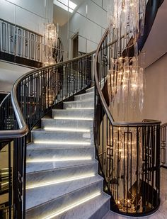 Dramatic, Luxurious stair case