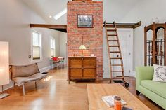 'Pure Honey'  ~  A small, restored home with loft made from reclaimed wood in Columbus, Ohio.  ~  Small House Swoon