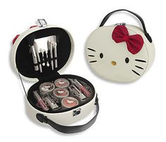Hello+Kitty+Make+Up+Kit   Details about Hello Kitty Vanity Case Cosmetic Make-up Set Kit Bag ...