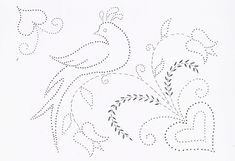 Tin Punch Patterns :: P 1021 Distelfinks - Pierced Tin Designs Paper Embroidery, Embroidery Patterns, Stitch Patterns, Tin Can Art, Tin Art, Flower Applique, Wool Applique, Candlewicking Patterns, Tin Can Lanterns