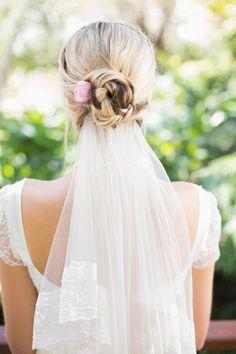 wedding hair updos veil