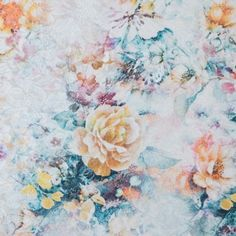 New! Dandelion and Birch Digitally Printed Floral Jacquard Fabric by the Yard | Mood Fabrics
