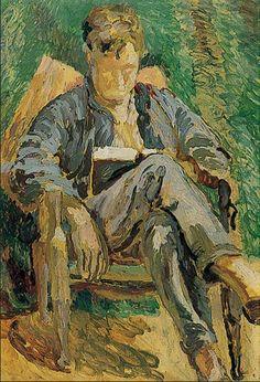 Julian Bell reading at Charleston Duncan Grant, 1930.