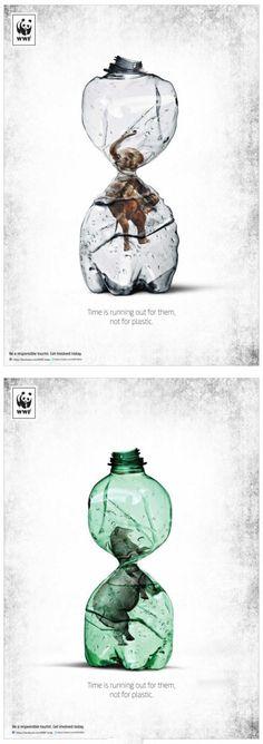 wwf世界自然基金会公益广告创意,看了让...