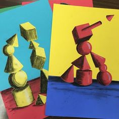 Elements of the Art Room grade art lesson. Form and Value lesson. Stacey's Art Room! This site is dedicated to the awesome elementary artists I teach, and is a little window into our world of art. Hope you enjoy! Arts And Crafts Movement, Arte Elemental, Middle School Art Projects, Art School, 7th Grade Art, Value In Art, Art And Craft Videos, Art Curriculum, Colors