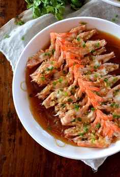 Steamed Shrimp with Glass Noodles - Two Ways, by thewoksoflife.com