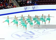 Team Great Britain perform in the Short Program during the ISU World Junior Synchronized Skating Championships at Hershey Centre on March 10, 2017 in Mississauga, Canada.