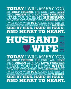 I like this SO much better than traditional wedding vows.