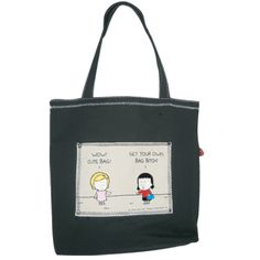 Angry Little Girls Get Your Own Bag Bitch! Tote (Uncensored)