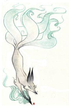 Fire Fox Art Print