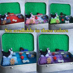 Felt plush husky in a tin play set https://www.etsy.com/listing/452685494/miniature-plush-felt-husky-dog-in-altoid